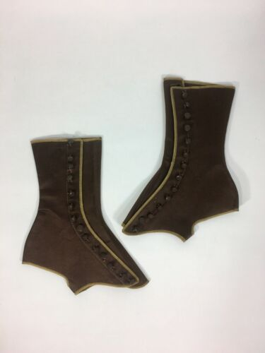 Antique 1890's-1910's EDWARDIAN VICTORIAN brown si
