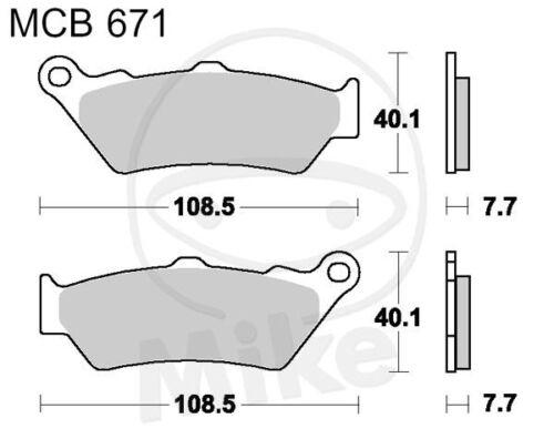 TRW Lucas Bremsbeläge MCB671 vorne Honda NT 650 V Deauville