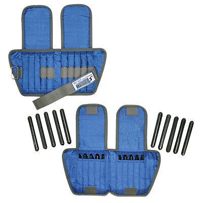 El brazalete de tobillo ajustable-peso 10 libras - 20 x inserciones de 0.5 LB-Azul-Par
