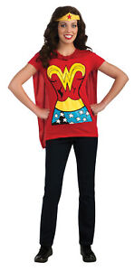 Wonder-Woman-Shirt-Adult-Womens-Costume-Removable-Cape-And-Headpiece-Rubies