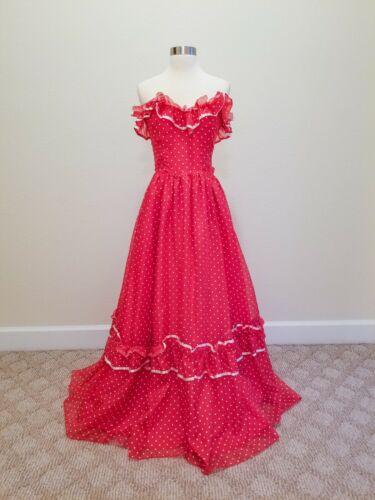 Vintage Prom Dress Gunne Sax Jessica McClintock P… - image 1