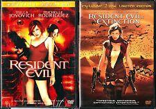 Resident Evil (DVD, 2002, Special Edition) & Resident Evil: Extinction (2 Disc)