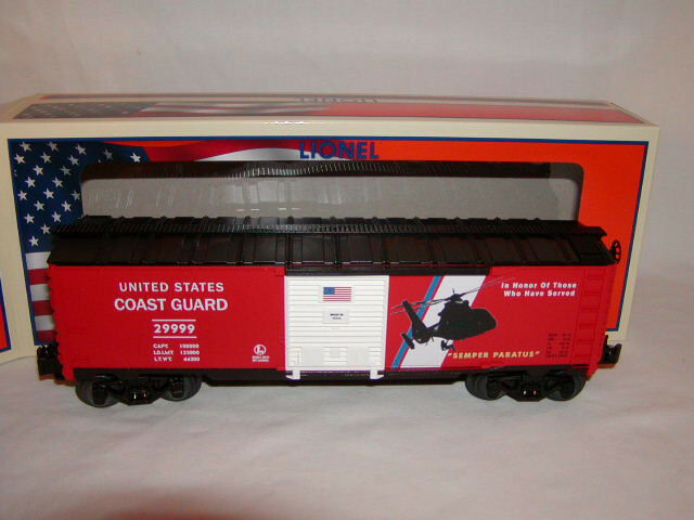 Lionel 6-29999 Made U.S.A. Coast Guard Box Car O 027 New 2013 Armed Forces
