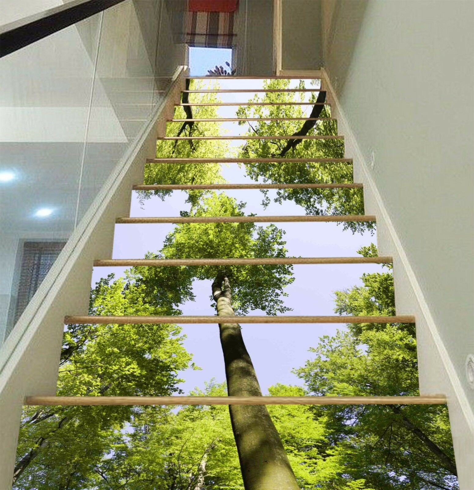 3D High Trees 227 Stairs Risers Decoration Photo Mural Vinyl Decal Wallpaper US