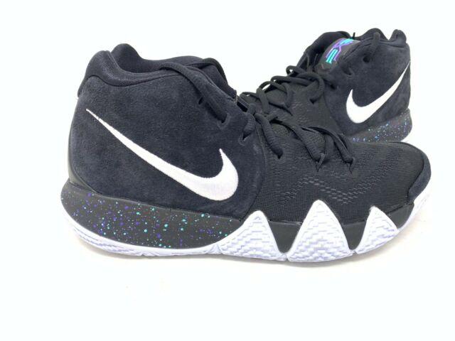 6ce28bd16ed45 NEW! Nike Men's Kyrie 4 Basketball Shoes Blk/Wht Splatter #943806-002 162V  tz