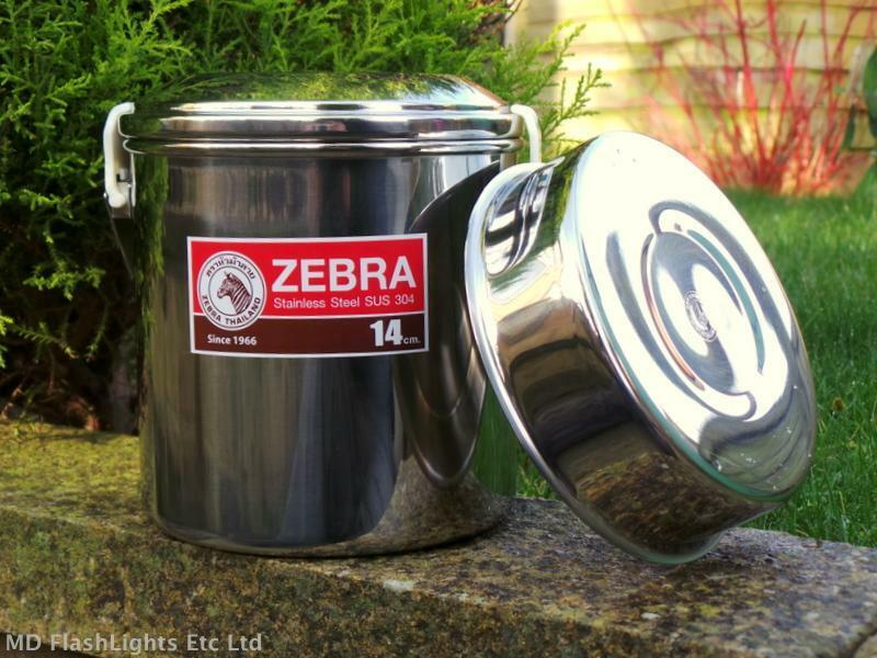 14CM STAINLESS STEEL ZEBRA BILLY CAN COOKING POT  BUSHCRAFT SURVIVAL CAMPING  cheap sale