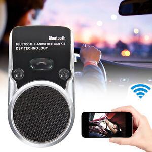 Solar Powered Speakerphone Wireless Bluetooth Handsfree Car Kit For Mobile Phone