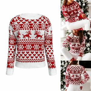 Women-Christmas-Snowflake-Sweater-Jumper-Ladies-Xmas-Long-Sleeve-Pullover-Tops