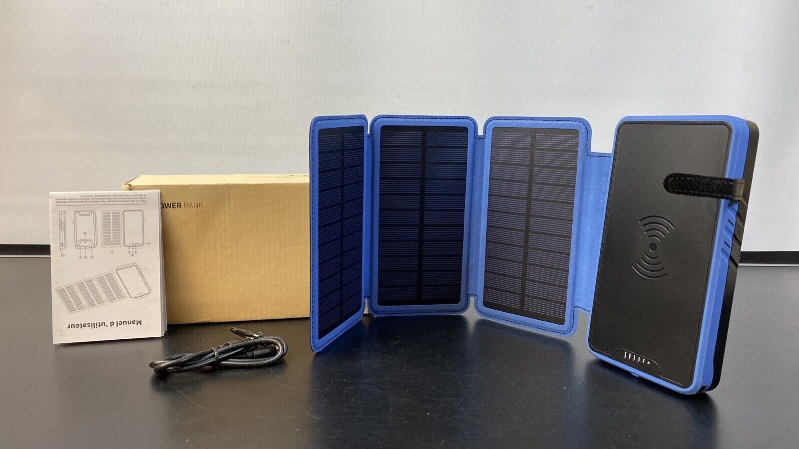 Soluser Solar Power Bank 20000mAh Portable Solar Charger with Dual USB 2.1A