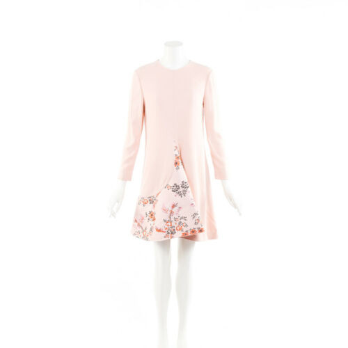 Stella McCartney Dress Pink Floral Jacquard Flare