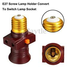 E27 Screw Base Light Holder Convert To With Switch Lamp Bulb Socket Adapter