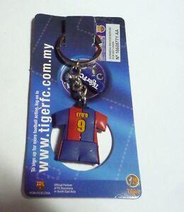 BARCELONA-Key-Chain-SAMUEL-ETOO-Ring-TIGER-BEER-MALAYSIA-2006-Champions-League