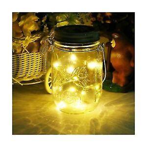 Path Lights Solar Mason Jar Led Gl Outdoor Hanging Patio Lantern Decorative