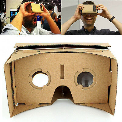 Google Cardboard 3D VR Virtual Reality Glasses Ultra Clear 3D Viewing Glasses