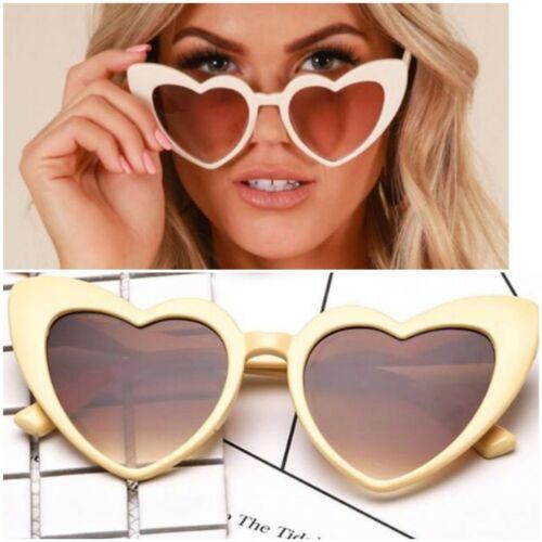 ❤ post rápido Reino Unido desnuda Amor Corazón Forma de Ojo de Gato Gafas De Sol Lolita Mochshino 60s