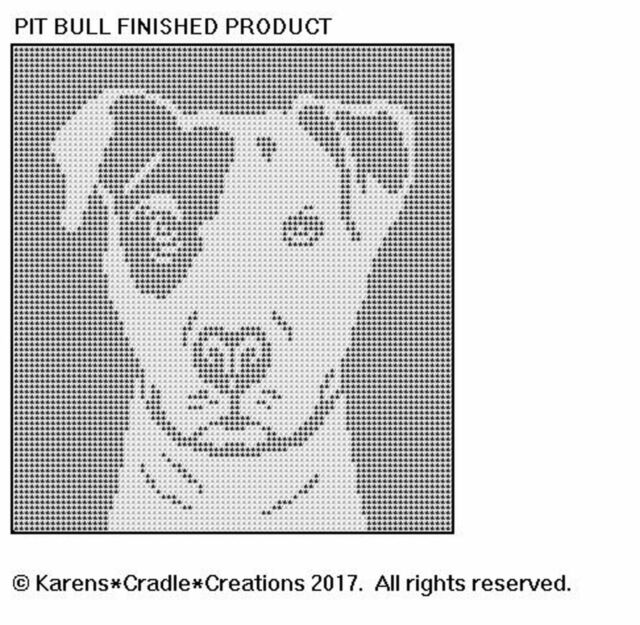 Pit Bull Filet Crochet Dog Breed Pattern