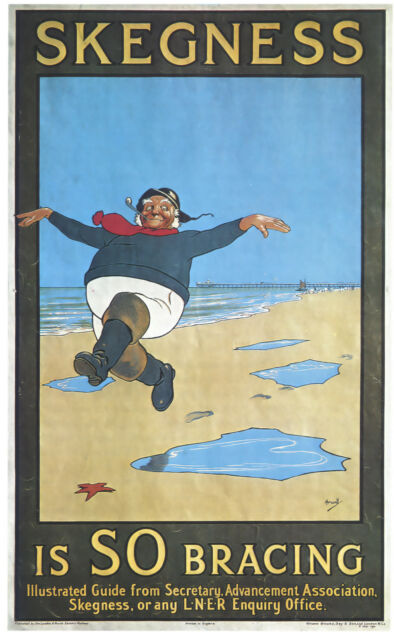 "SKEGNESS..""Is So Bracing"" Vintage LNER Art Deco Railway Poster A1,A2,A3,A4 Sizes"