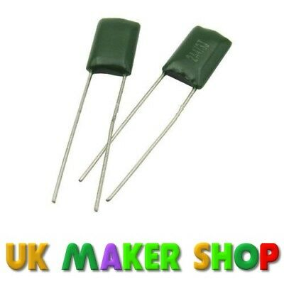 68nF 100 V 5 mm Caja de poliéster condensadores Pack 10