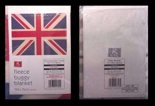 2 Baby Buggy Landau Lit Couverture Polaire Union Jack vérifié ELLI /& RAFF 100x150cm