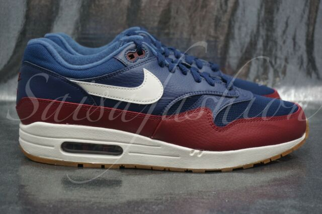 aliexpress cheap prices low priced Nike Air Max 1 Men's Shoes Navy Team Red 2018 Sneakers AH8145-400 Size 9.5
