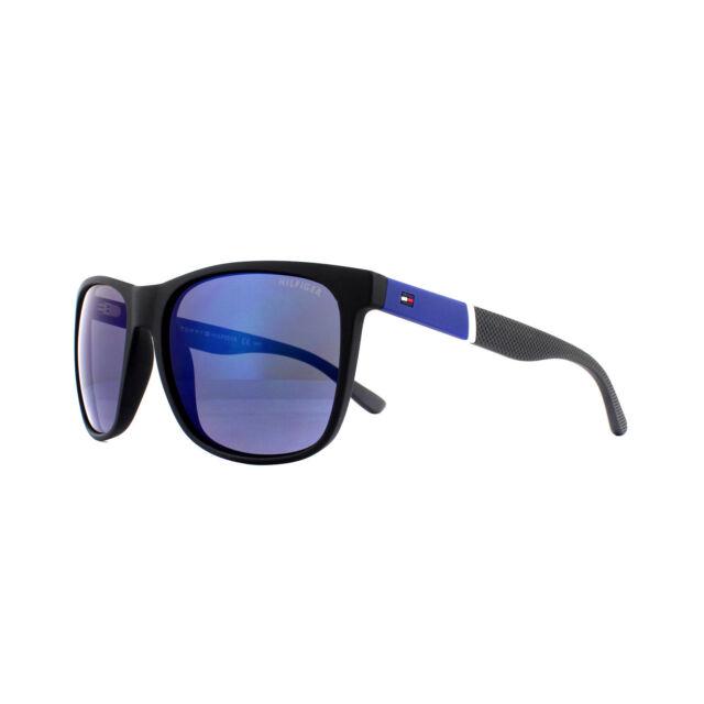 2e45e8ef98b Tommy Hilfiger Sunglasses Th 1281 s FMA 3h Black Blue Grey Polarized ...