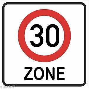 wetterfestes-Verkehrsschild-034-Zone-30-034-Geburtstagsschild-Verkehrszeichen-40x40cm