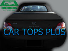 "1999-2003 Toyota Solara Convertible Top & Heated Glass ""Robbins"" Black Cloth"