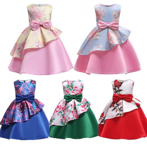 Kids Girls Ball Gown Dress Wedding Princess Bridesmaid Formal Party Birthday