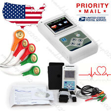 2017 New 3-Channel 24H ECG/EKG Holter System Analyzer Software Recorder Monitor