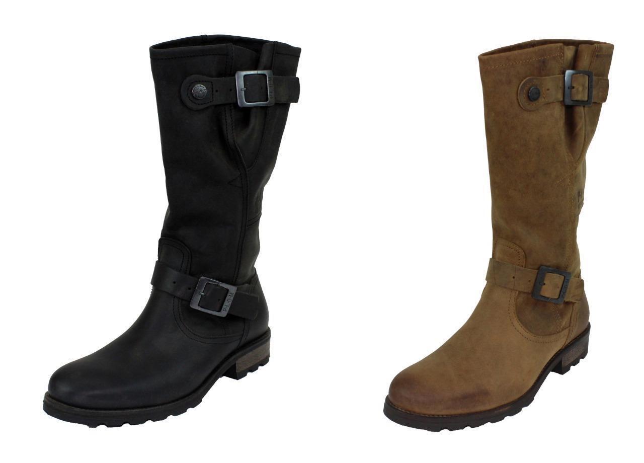 Nuevas botas Palladium urbano urbano urbano CLP De Cuero Para Mujer Tallas 6-10 Negro o Marrón 93433  elige tu favorito