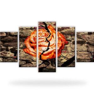 Rose-Abstrakt-Mauer-Leinwandbilder-Digitalart-Mehrteilig
