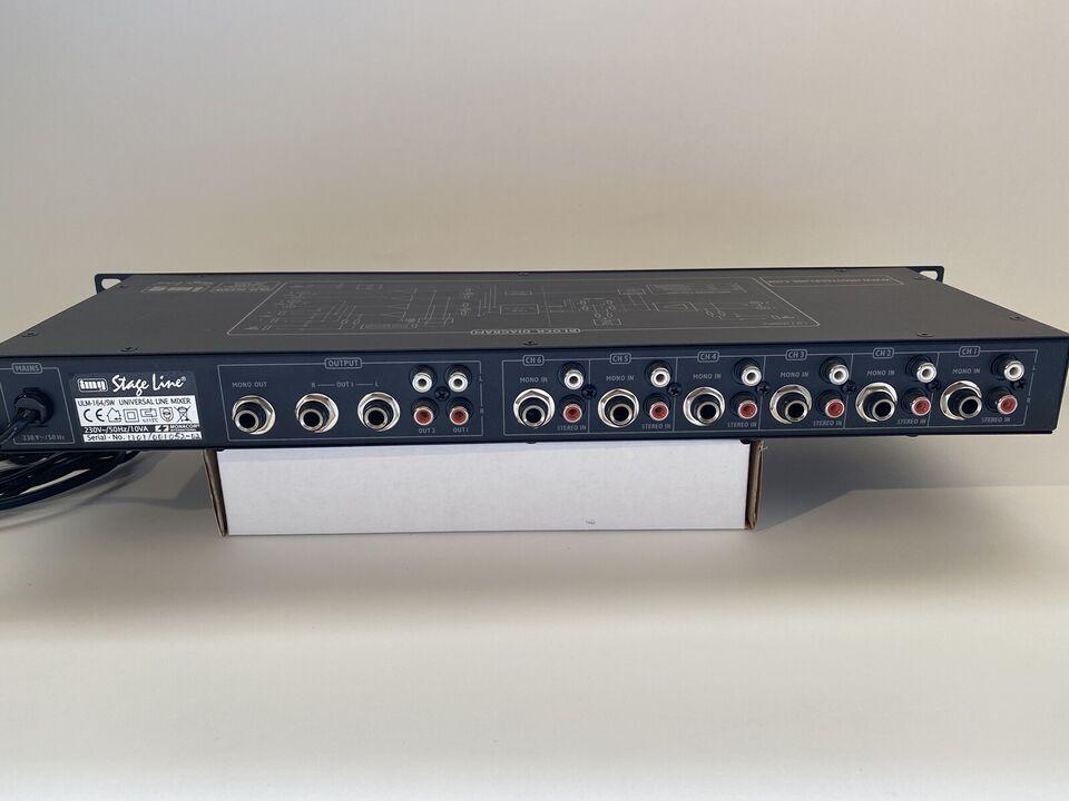 Mixer 6-kanals, IMG STAGE LINE ULM-164/SW