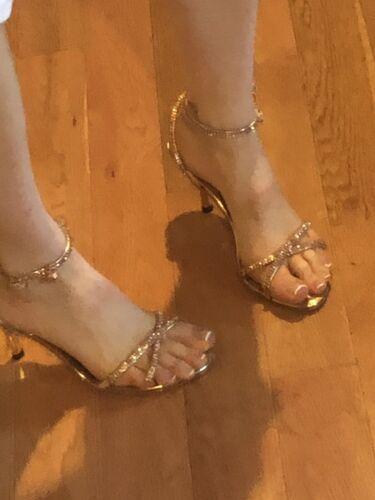 Alberto Venturini Gold Sandals Size 39