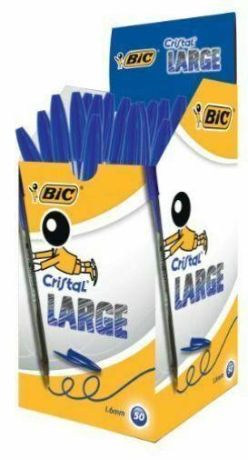 BIC Kugelschreiber Cristal Large Strichfarbe blau