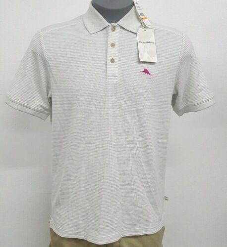 Tommy Bahama Silver Grey White Striped S//S Men/'s Polo Shirt NWT $99.50 Choose Sz