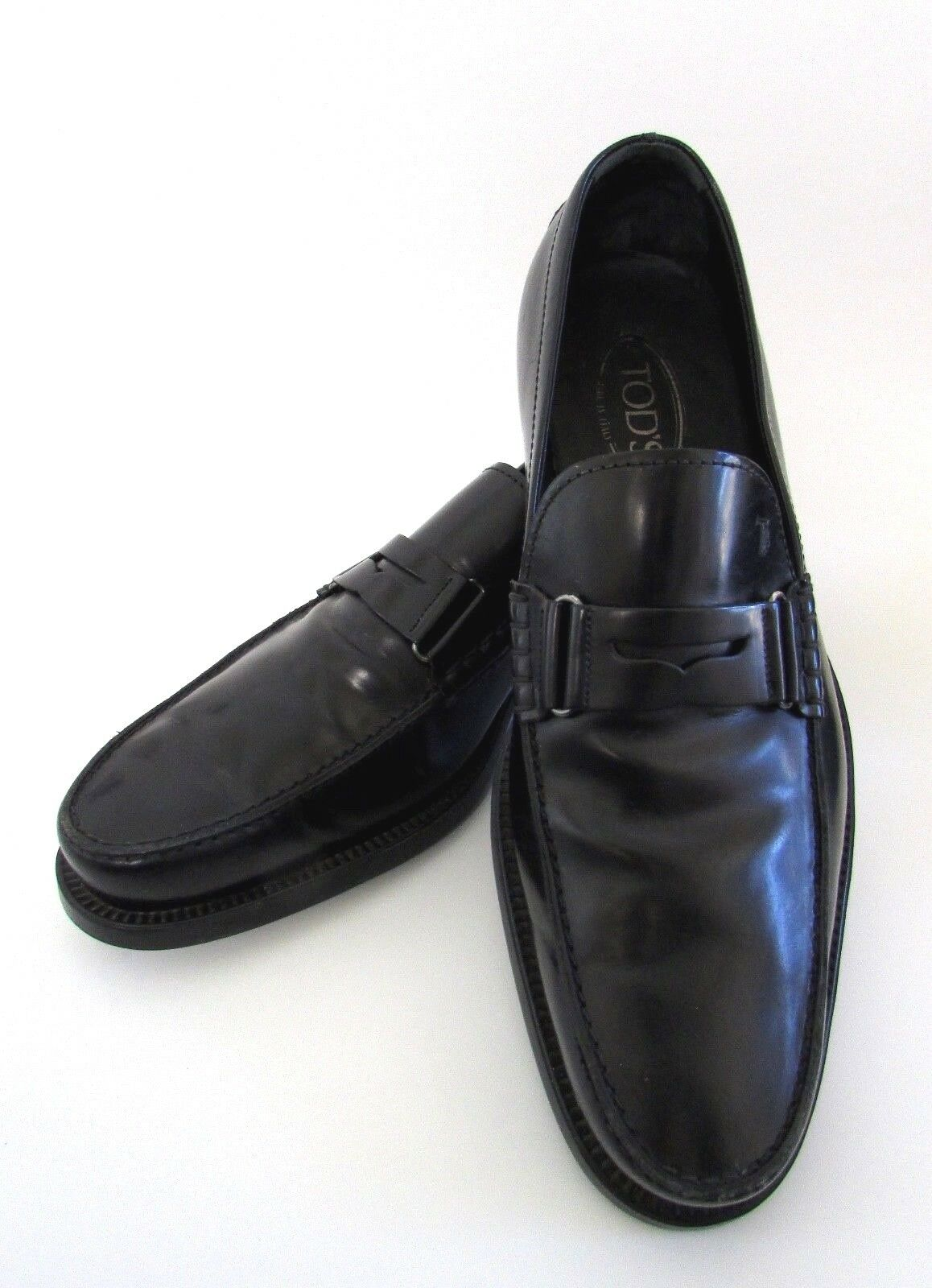 comprare a buon mercato TOD'S  Uomo nero Leather Dress Dress Dress Penny Loafers 10.5  una marca di lusso