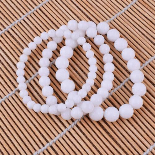 6,8,10mm Blanc Tridacna Pierre Gemme Perles rondes élastique Bracelets Ami Cadeau