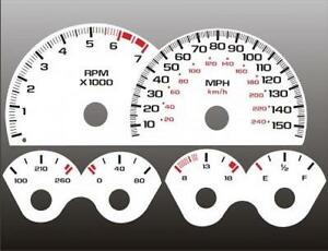 1999-2002 Chevrolet Camaro 150mph V8 Dash Cluster White Face Gauges 98-02