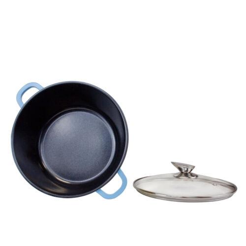 Nea Aluminium Die-Cast 5Pcs Casserole Induction Revêtement Céramique