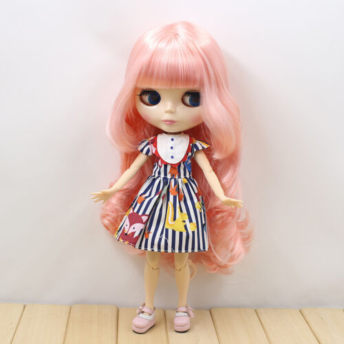 12 Neo Blythe Doll Pink Hair from Factory Joint Body Nude Doll JSW95008