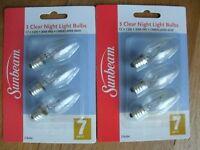 'sunbeam' 7w Clear Night Light Bulbs (6 Bulbs // 12 Bulbs // 24 Bulbs)