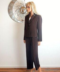 34 Chic Brown Blazer Pantsuit pantalon 36 taille Biba taille 87q1RqW