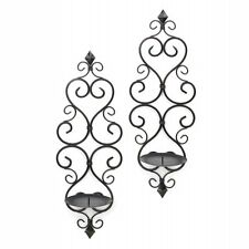 fleur de lis trellis pillar candle holder wall sconce decor