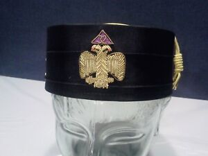 Details about VINTAGE FREEMASONIC SCOTTISH RITE DOUBLE EAGLE 32 DEGREE HARD  HAT Sz 7 1/8  NEW