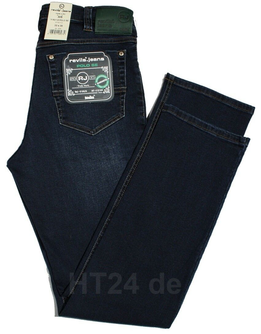 JEANS revils 305 v92 v92 v92 1-8 POLO se Super Elastic in darkblu used stretch fino a w40 a9c9e6
