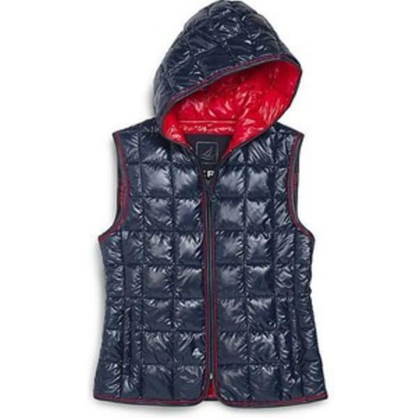 Sperry Top-Sider Sea Puffer Vest Hooded L