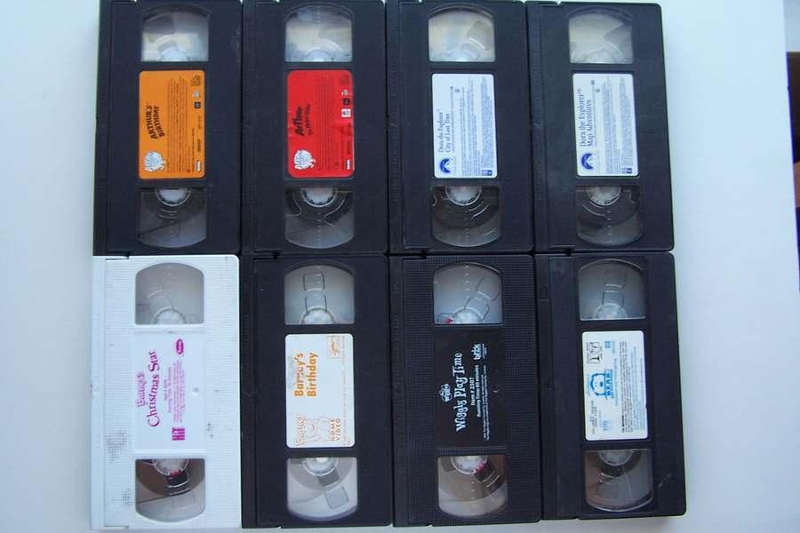 Barney, Bear, Wiggles, Dora, & Arthur 8 Tape VHS Video