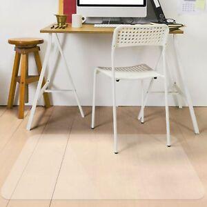 Rectangle Office Desk Rolling Chair Hard Wood Floor Mat ...
