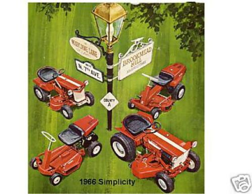 1966 Simplicity  Lawn Tractor  Magnet