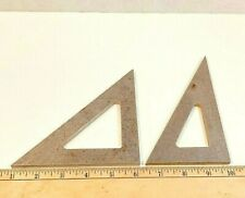 2 Vintage Large Machinist Made Angle Blocks Triangle Angle Machinist Tool